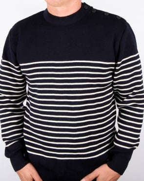 Armor-lux Dumet Striped Sailor Jumper Rich Navy/nature
