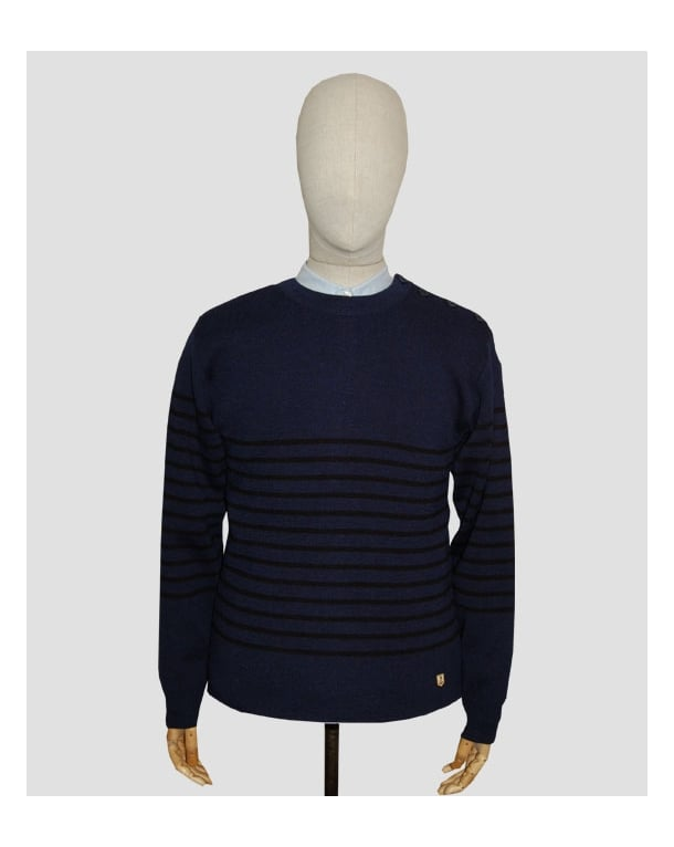 Armor Lux Armor-lux Marin Heritage Crew Neck Jumper Navy/black