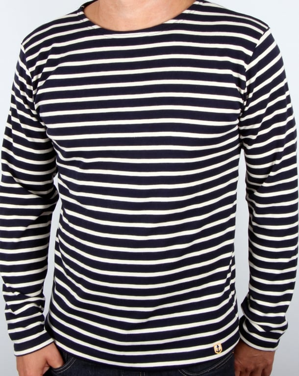 Armor Lux Armor-lux Mariniere L/s Striped T-shirt Navy/Ecru