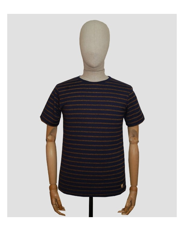 Armor Lux Armor-lux Stripe T-shirt Navy/tan