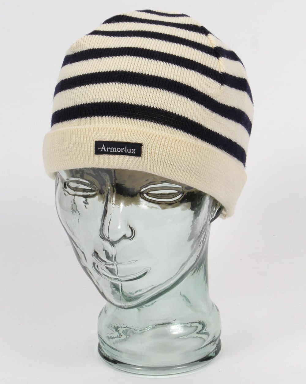 adf21234a Armor-lux Striped Beanie Hat Nature Navy - Hats And Caps from 80s Casual  Classics UK