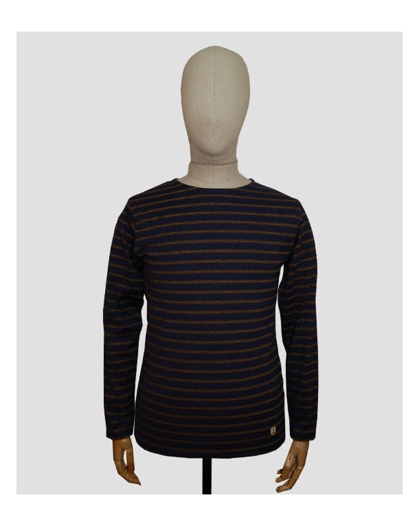 Armor Lux Armor-lux Striped Long Sleeve T-shirt Navy/tan