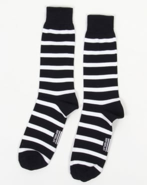 Armor-Lux Striped Socks Navy/White