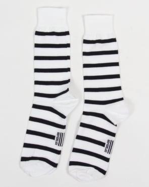 Armor-lux Striped Socks White/navy