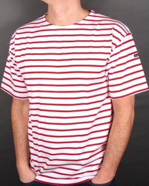 Armor-lux Theviec Stripe T-shirt White/Red