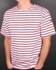 Armor Lux Armor-lux Theviec Stripe T-shirt White/Red