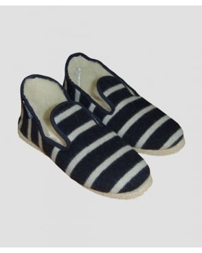 Armor-Lux Wool Slippers Navy/Ecru