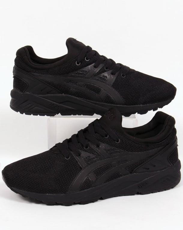 black asics trainers