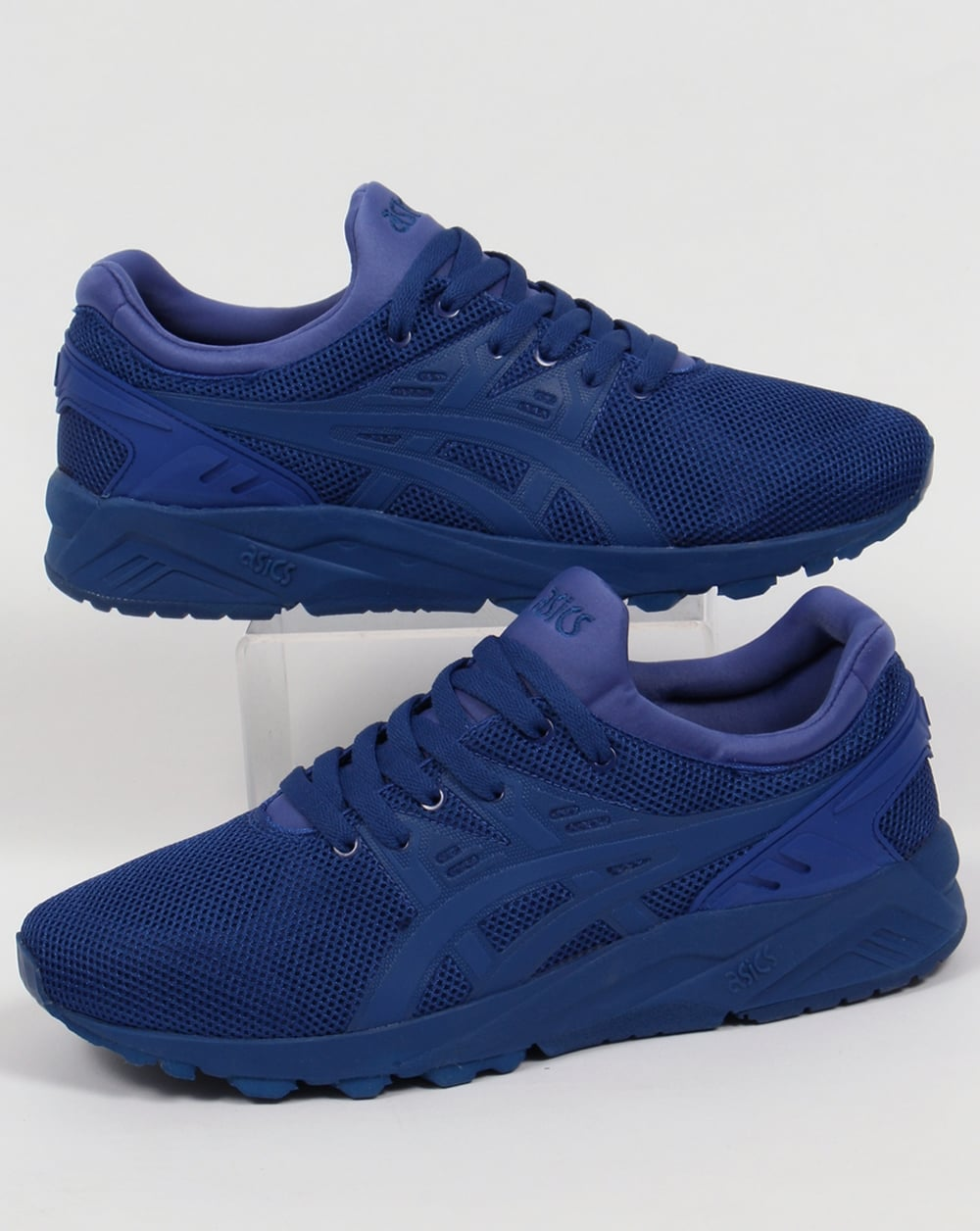 asics gel kayano evo trainers monaco blue tech pack shoes. Black Bedroom Furniture Sets. Home Design Ideas