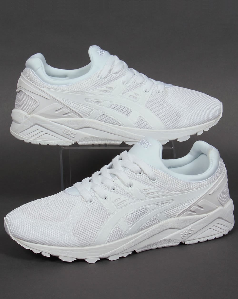 asics gel kayano evo trainers white tech pack shoes. Black Bedroom Furniture Sets. Home Design Ideas