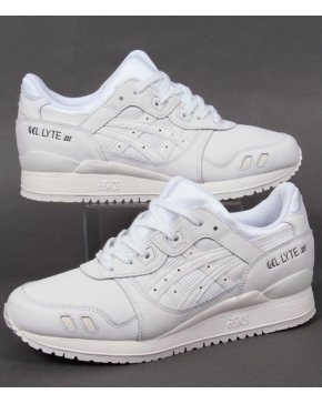 Asics Gel Lyte III Leather Trainers White/white