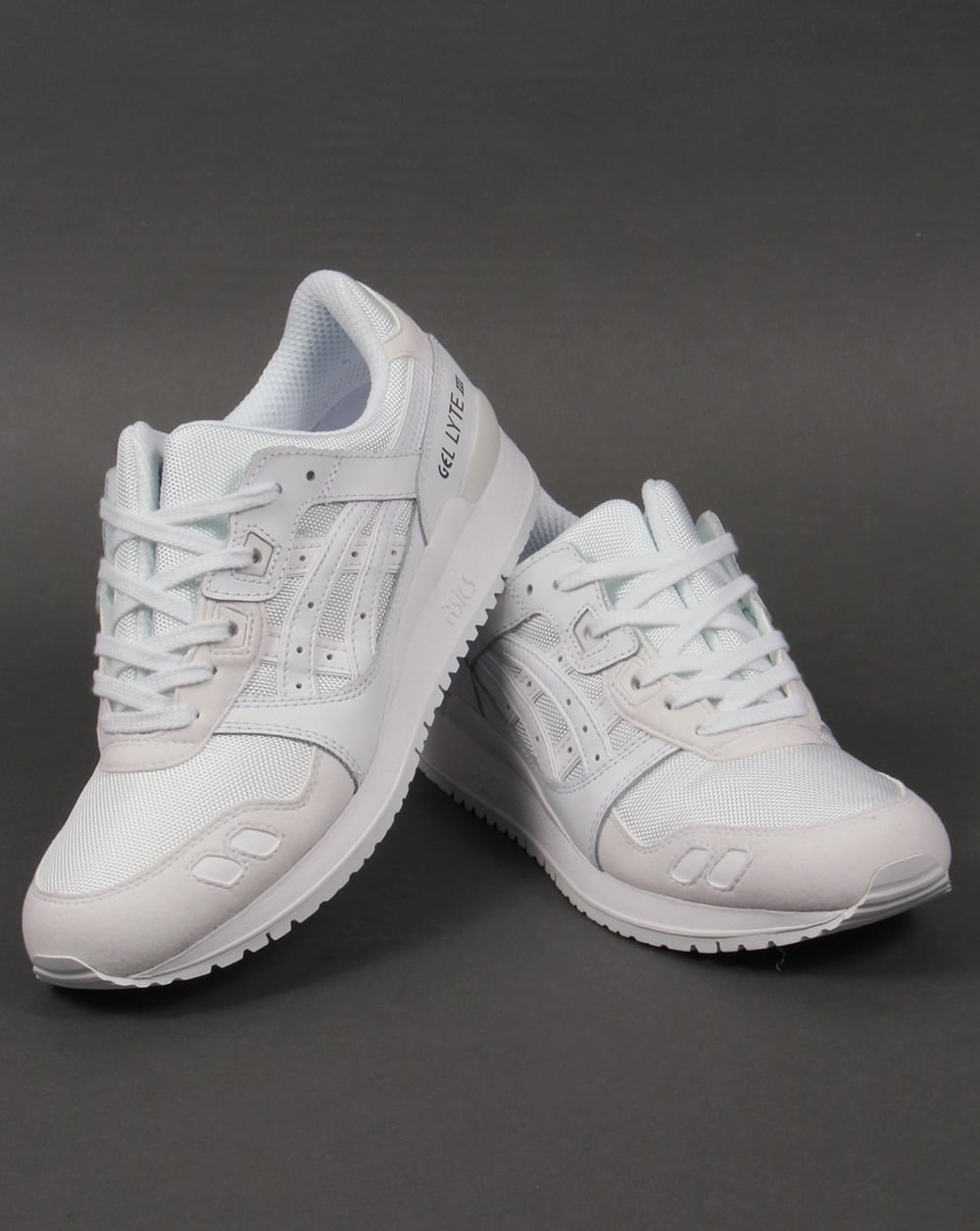 asics gel lyte iii suede trainers white white 3 shoes. Black Bedroom Furniture Sets. Home Design Ideas