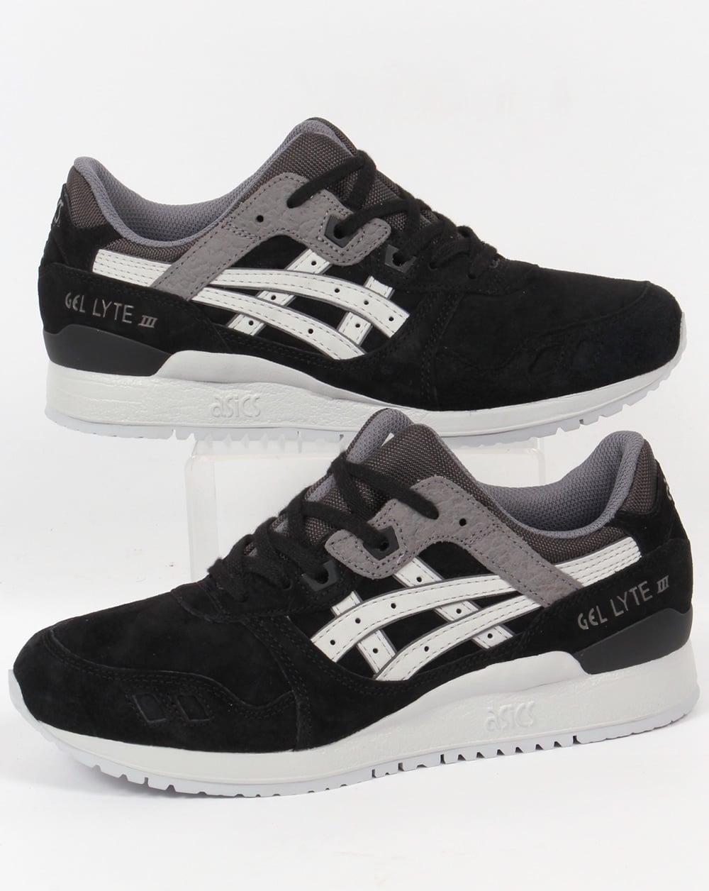 asics black and grey