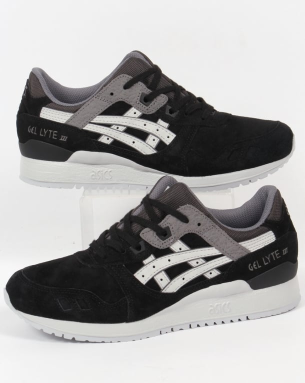 new product 76cb4 2d805 Asics Gel Lyte III Trainers Black/Grey