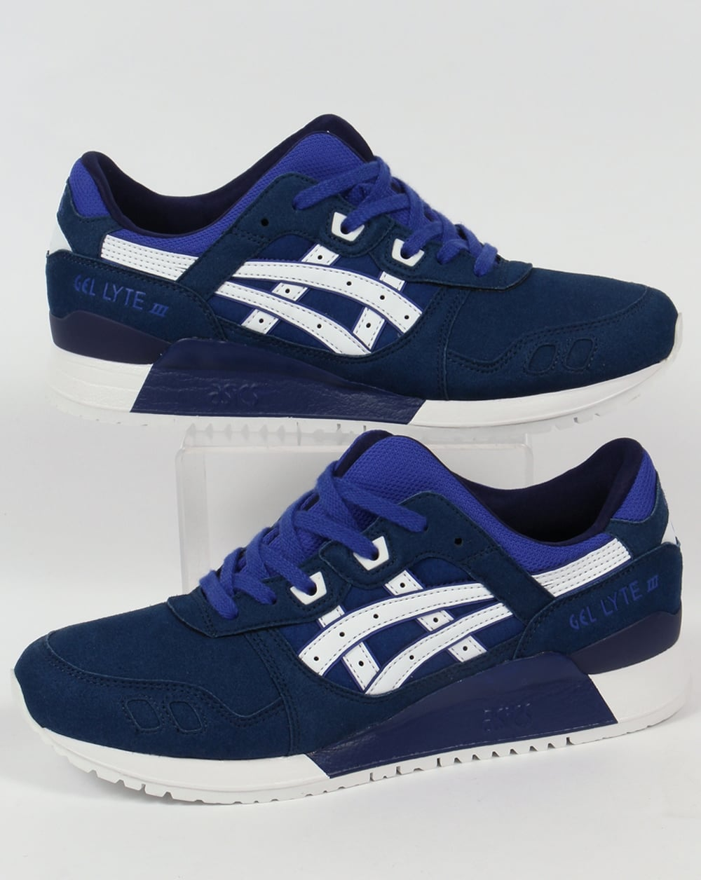 premium selection 3138c 2a0b1 Asics Gel Lyte III Trainers Blue/White