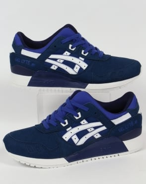 Asics Gel Lyte III Trainers Blue/White
