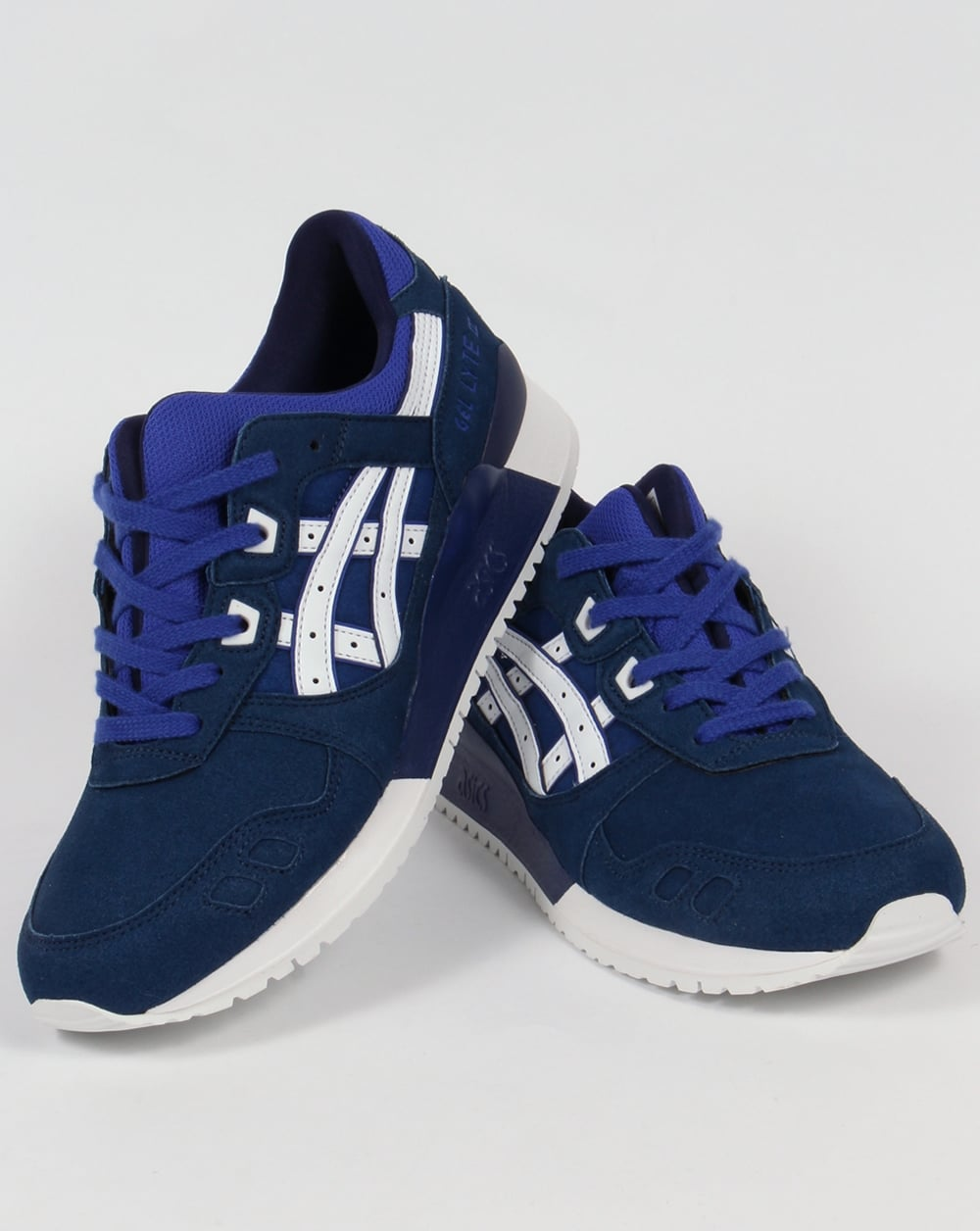 asics gel lyte iii trainers blue white 3 shoes runners sneakers. Black Bedroom Furniture Sets. Home Design Ideas