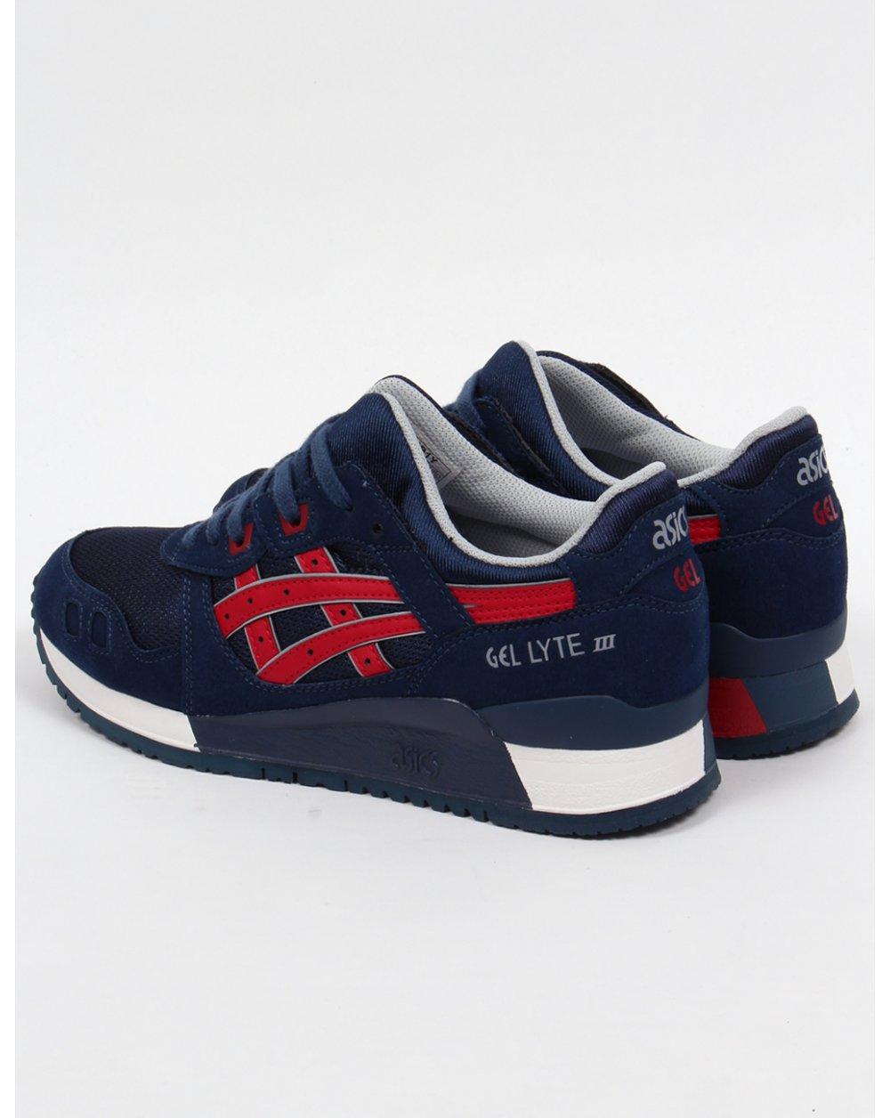 Asics Gel Lyte Iii Zapatos Tinta China Azul Marino Rojo Tango 183Ge
