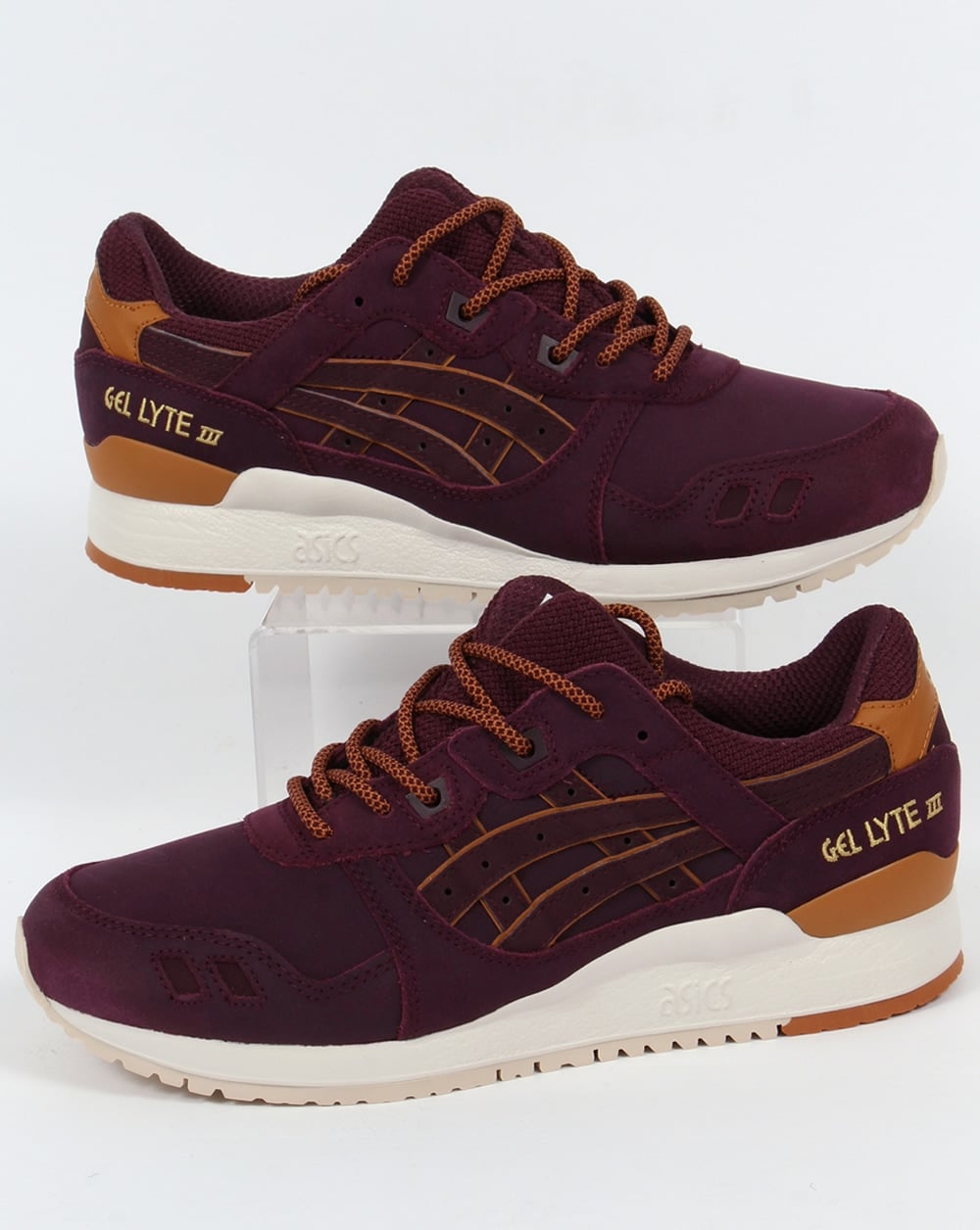100% authentic 81b68 f3419 Asics Gel Lyte III Trainers Rioja Red