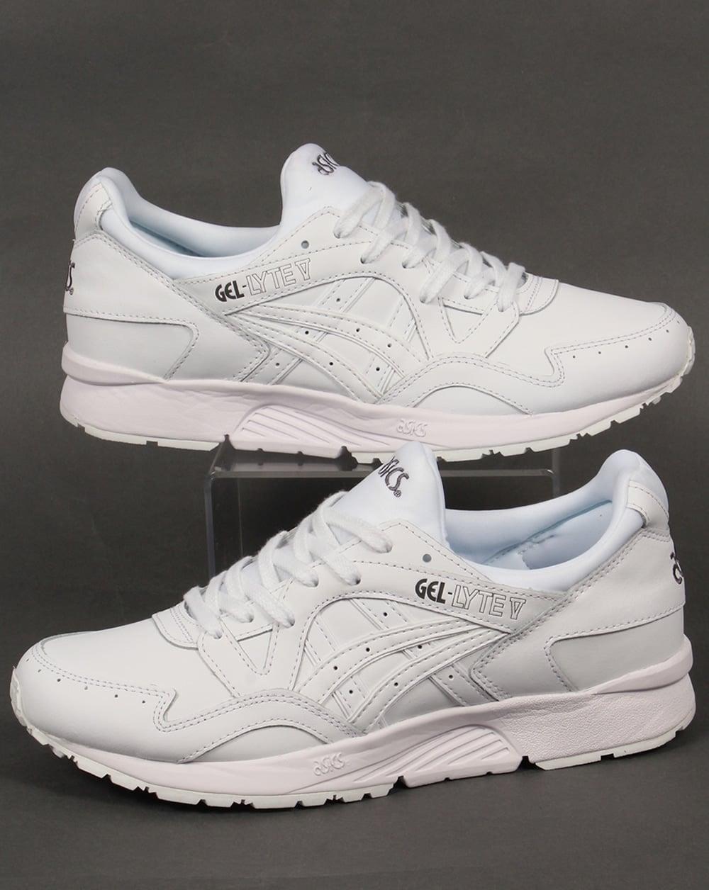 9cb0fd1130c7 Asics Asics Gel Lyte V Leather Trainers White