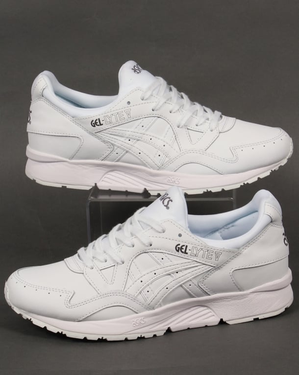 grossiste 1f08d 558c0 Asics Gel Lyte V Leather Trainers White