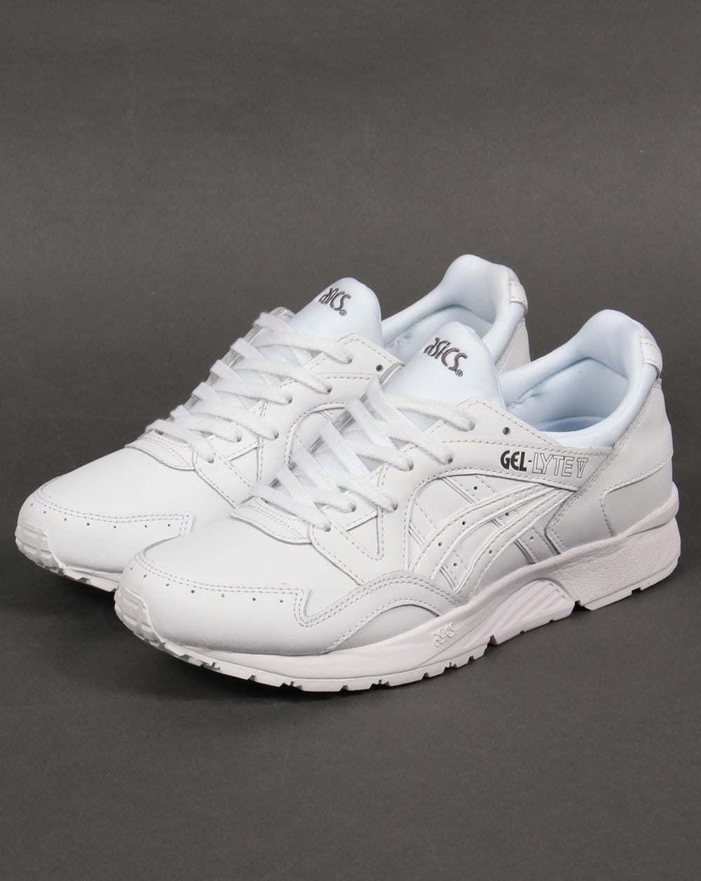 wholesale dealer 87e07 0c387 Asics Gel Lyte V Leather Trainers White