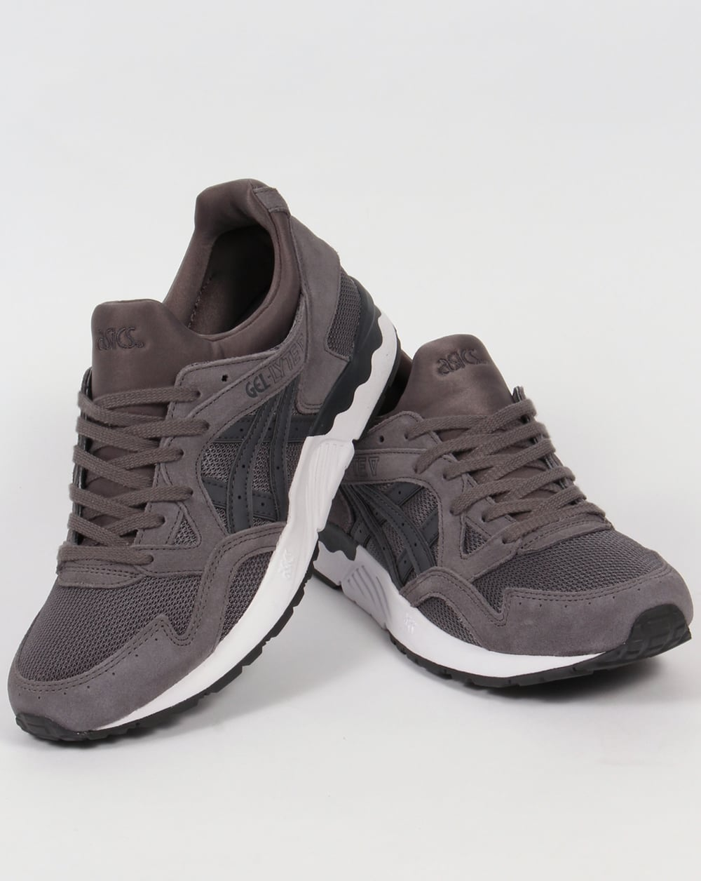 asics gel lyte v trainers carbon dark grey 5 shoes runners sneakers. Black Bedroom Furniture Sets. Home Design Ideas