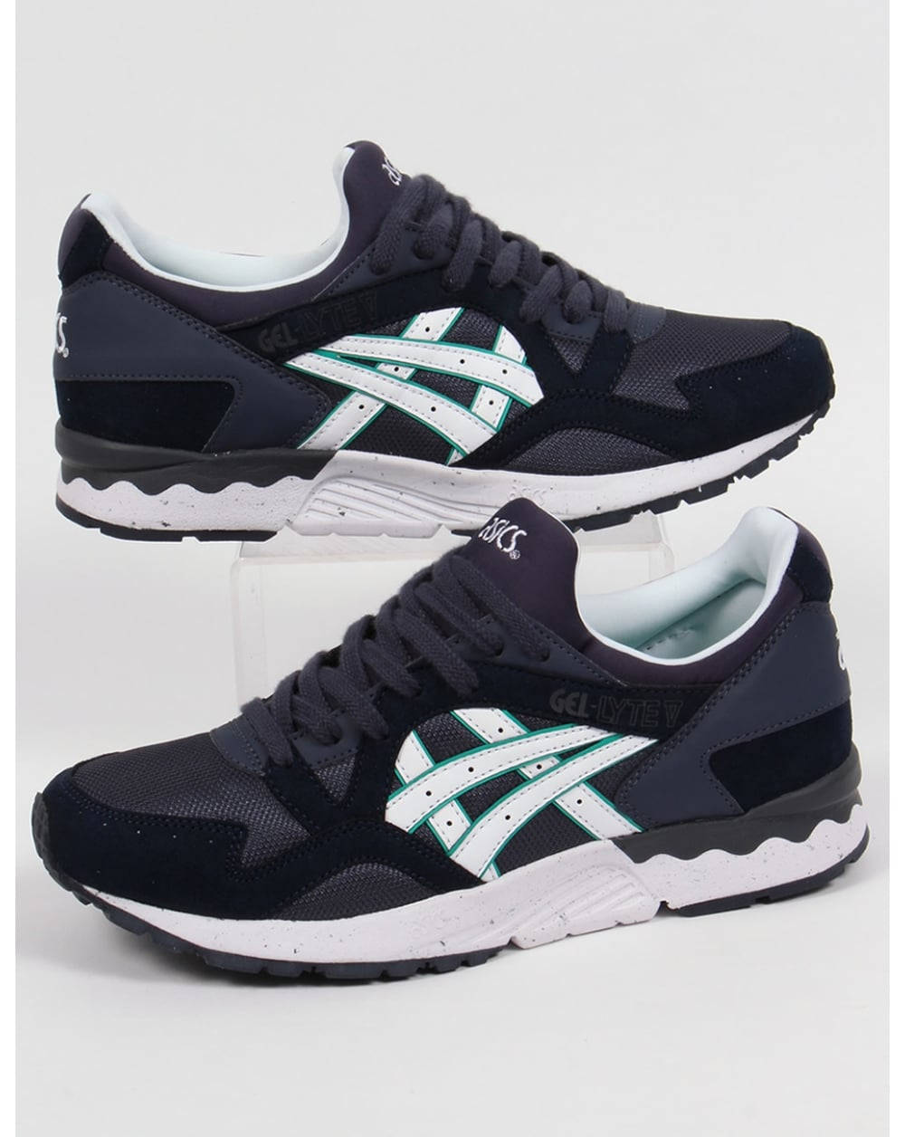 asics gel lyte v trainers indian ink white 5 shoes runners sneakers. Black Bedroom Furniture Sets. Home Design Ideas