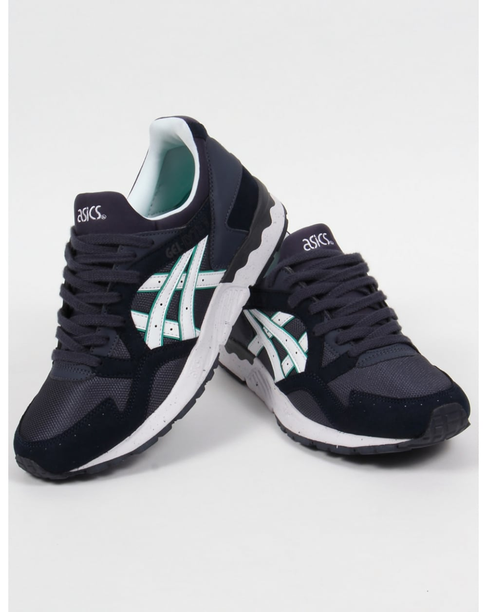 asics gel lyte v trainers indian ink white 5 shoes runners. Black Bedroom Furniture Sets. Home Design Ideas
