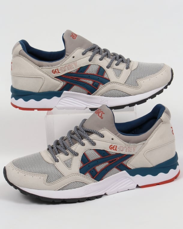 Asics Gel Lyte V Trainers Light Grey/Legion Blue