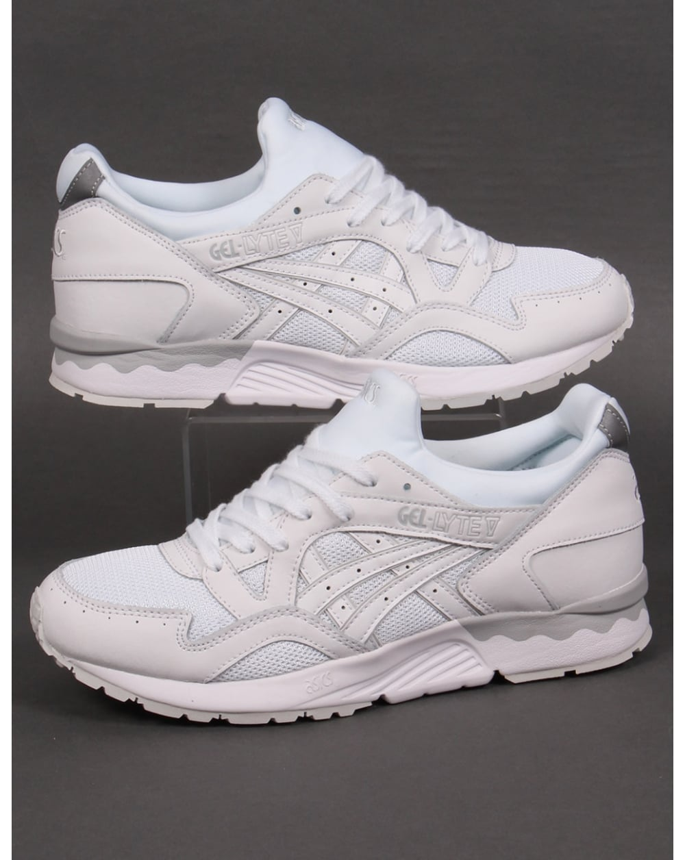 asics gel lyte v trainers white white 5 shoes runners sneakers. Black Bedroom Furniture Sets. Home Design Ideas