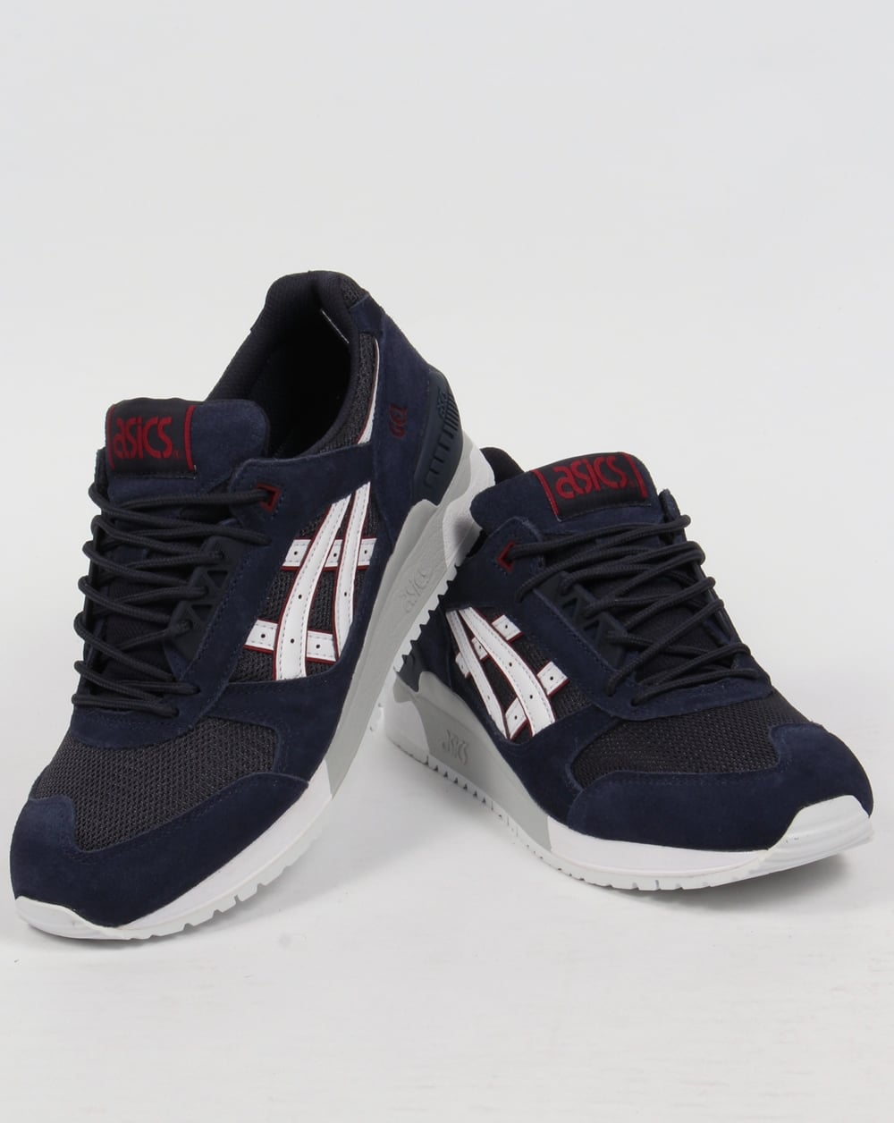 asics gel respector trainers navy white 90s runner shoes. Black Bedroom Furniture Sets. Home Design Ideas