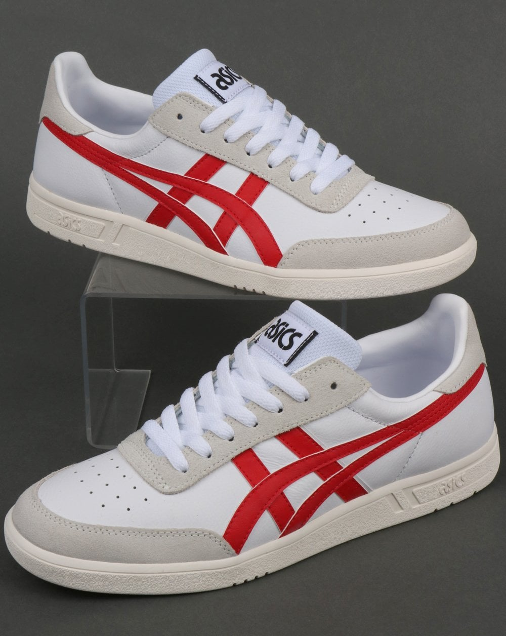los angeles 5c656 3a72d Asics Gel-Vickka TRS Trainers White/Red