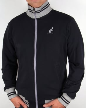 Australian By Lalpina Contrast Collar Track Top Navy/Grey