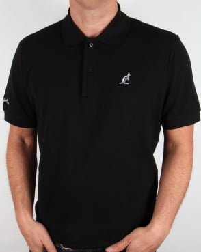 Australian By Lalpina Contrast Logo Polo Shirt Black
