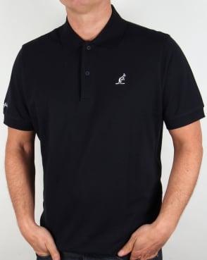 Australian By Lalpina Contrast Logo Polo Shirt Navy