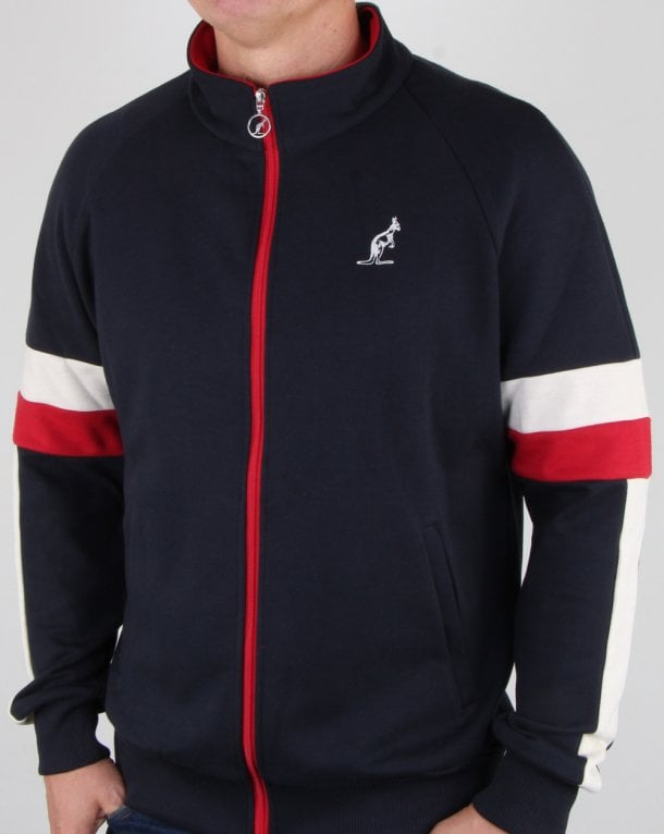 Australian By Lalpina Contrast Zip Track Top Navy