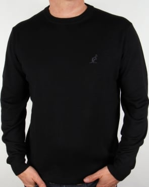 Australian By Lalpina Fine Merino Crew Neck Jumper Black