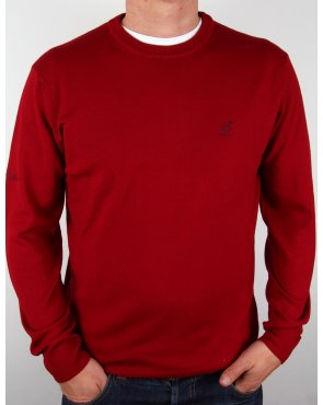 Australian By Lalpina Fine Merino Crew Neck Jumper Burgundy