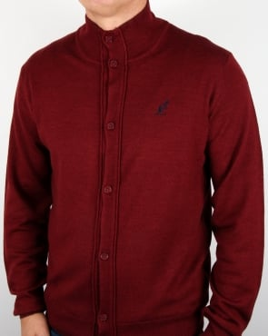 Australian By Lalpina Funnel Neck Cardigan Burgundy