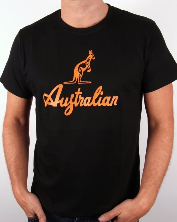 Australian By Lalpina Kangaroo Logo T-shirt Black/orange