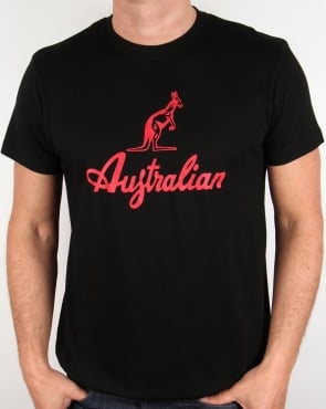 Australian By Lalpina Kangaroo Logo T-shirt Black/Red
