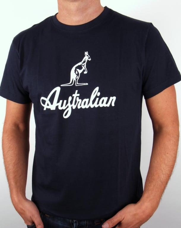 Australian By Lalpina Kangaroo Logo T-shirt Navy/white
