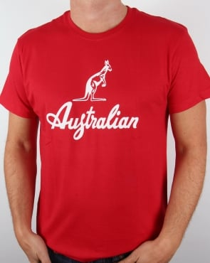 Australian By Lalpina Kangaroo Logo T-shirt Red/white