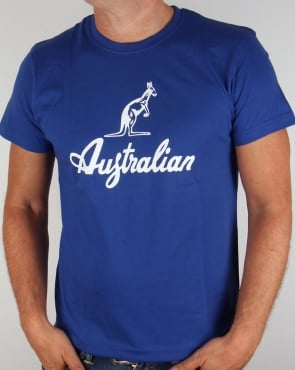 Australian By Lalpina Kangaroo Logo T-shirt Royal Blue/White