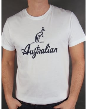 Australian By Lalpina Kangaroo Logo T-shirt White/navy