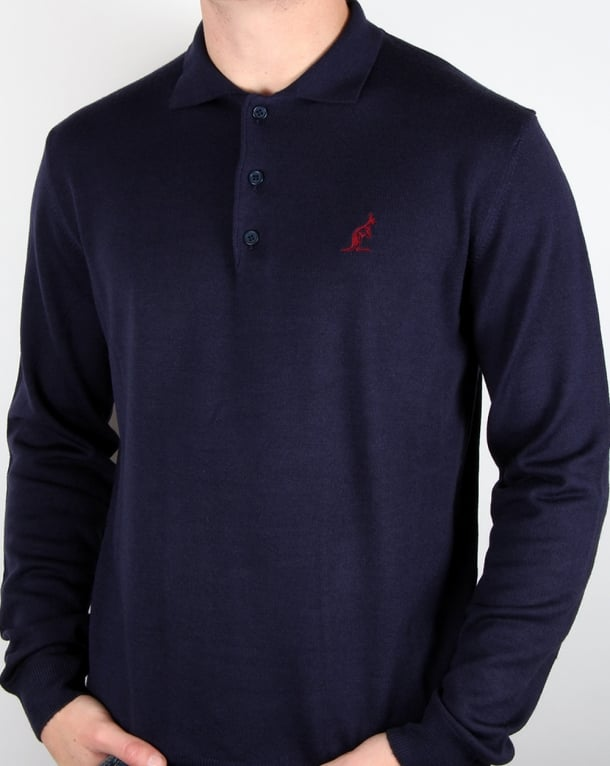 Australian By Lalpina Knitted Polo Shirt Navy