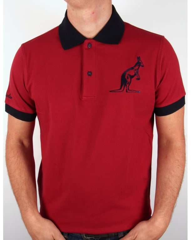 Australian By Lalpina Logo Polo Shirt Deep Red