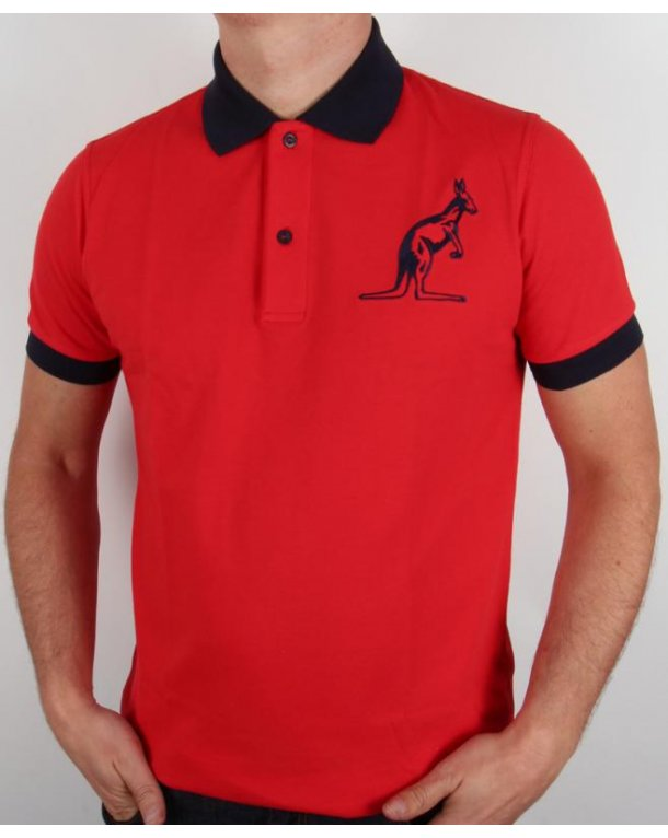 Australian By Lalpina Logo Polo Shirt Red