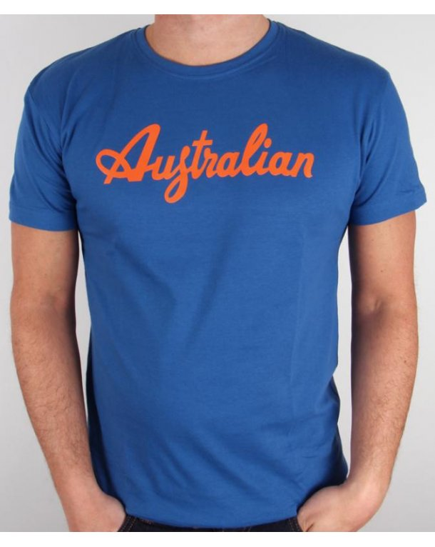 Australian By Lalpina Logo T-shirt Italia Blue